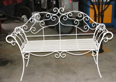 Paris outdoor bench