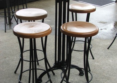 Rimu Stools and Bar Leaner